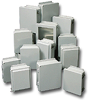 Robroy,J1008HW,Wiring Device-Kellems Stahlin® JHW Junction Enclosure, 11.63 in L x 9.41 in W x 4.22 in D, Hinged Cover, Polyester