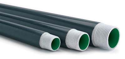 Perma-Cote 400-CON 4 Inch Gray Galvanized PVC Coated Steel Rigid Conduit