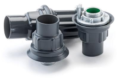 P-Cote,ST-1,Plasti-Bond PMST-1 Conduit Hub, 1/2 in, Steel, PVC Coated