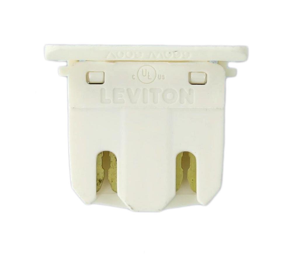 LEV13280 G13 BASE, FLUORESCENT LAMPHOLDER, NON-SHUNTED, SLIDE-ON MOUNTING, WHITE LEVITON