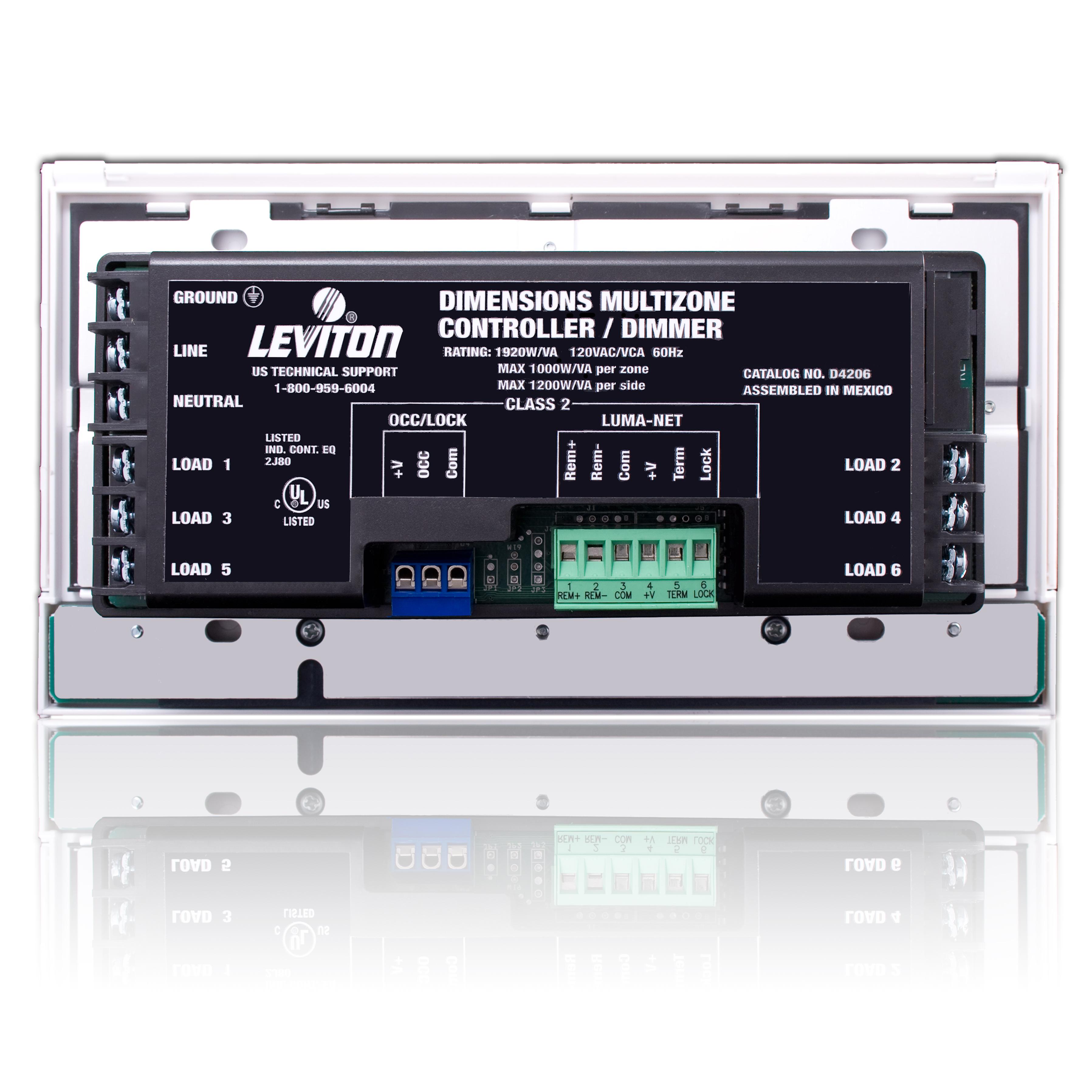 Leviton® D4206-1LW D4206-6 120V DIM32CH | Steiner Electric Company