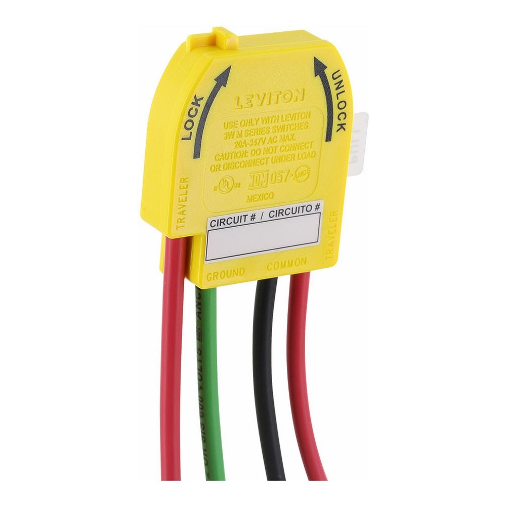 Leviton,M3WSW-ST,Lev-Lok® M3WSW-ST Wiring Module With XHHW-2 Stranded 6 in Wire Lead, For Use With 3-Way Toggle Switches, 20 A, 347 VAC