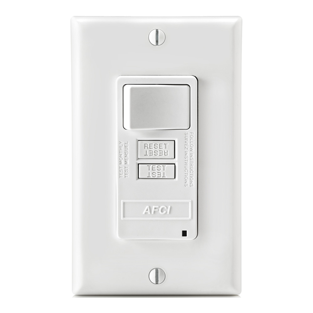 Combination Devices United Electric Triple Light Switch Wiring Diagram Leviton 1755 Rocker Levafsw1 W 15 Amp 20 Feed Through 125 Volt Obc