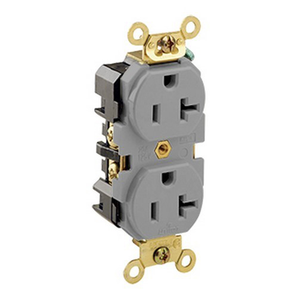 Product Category 15 20 Amp Gfi Gfci Wall Receptacle Brown Black Gray Almond Ivory White Lev5362gy