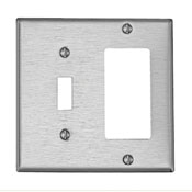 LEVITON S126 : 1 GANG STAINLESS STEEL TOG/DECORA PLATE