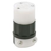 LEV 5269-C 15 Amp, 125 Volt, Connector, Straight Blade, Industrial Grade, Grounding, Black-White cs=1