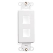 LEV 41642-W QuickPort Decora Insert, 2-Port, White cs=1