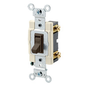 LEV 54521-2 20A, 120/277V, Toggle Framed Single-Pole AC Quiet Switch, Commercial Grade, Grounding, Brown cs=10
