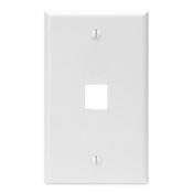 LEV 41080-1WP WHITE 1PORT QP PLATE cs=25
