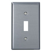 LEVITON 84001 : 1 GANG STAINLESS STEEL SWITCH PLATE