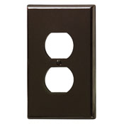 LEVITON 85103 : 1 GANG BROWN OVERSIZE DUPLEXRECEPTACLE PLATE
