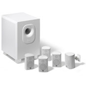 $LEV AEH50-WH 5.1 HOME THEATER SYS W/ POWERED SUB-WOOFER W/ WALL BRACKETS