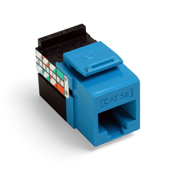 LEV 5G108-RL5 GigaMax 5E QuickPort Connector, Cat 5E, Blue cs=50