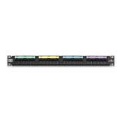 LEV 5G596-U24 Leviton Universal GigaMax Cat 5e 24-Port Patch panel w/Cable Management Bar cs=1