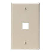 LEV 41080-1IP QuickPort Wallplate, Single Gang, 1-Port, Ivory cs=25