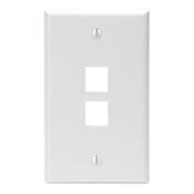 LEV 41080-2WP WHITE 2PORT QP PLATE cs=25