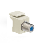 LEV 41084-FIF QuickPort F-Type Adapter, Nickel-Plated, Ivory cs=1