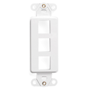 LEV 41643-W QuickPort Decora Insert, 3-Port, White cs=20