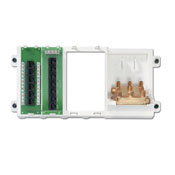 LEV 47606-BNP 2GHZ CABLING PANEL CONSISTS OF: SHELF BRCKT,CAT5E VOICE&DATA BOARD, TELE PATCH EXPANSION BOARD, 2 GHZ SPLITTR