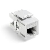 LEV 61110-RW6 eXtreme 6+ QuickPort Connector, CAT 6, White cs=1