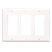 LEV 80411-NW 3G DECORA WHITE NYLON WALLPLATE CS=10/50