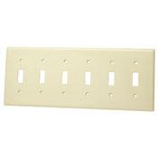 LEVITON 80736-W : WHITE NYL 6G SWITCH PLATE