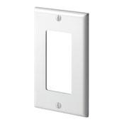 LEV 80401-NI 1-Gang Decora/GFCI Device Decora Wallplate, Standard Size, Thermoplastic Nylon, Device Mount, Ivory cs=20