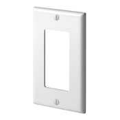 LEV 80401-NW 1-Gang Decora/GFCI Device Decora Wallplate, Standard Size, Thermoplastic Nylon, Device Mount, White cs=20/200