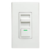 LEV IP710-DLZ IllumaTech 1200VA Preset Fluorescent Slide Dimmer, Single Pole and 3-Way, White/Ivory/Light Almond cs=1
