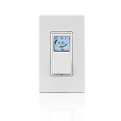 LEVVPT24-1PZ 24 HOUR TIMER;Leviton® Vizia RF +® VPT24-1PZ Programmable Electronic Time Switch With Astronomic Clock, 120 VAC, 15 A, 1 Pole