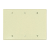 LEVITON 86033 : 3 GANG IVORY BLANK PLATE