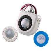 LEV OSFHU-ITW Fixture-Mounted PIR High-Bay Sensor with 3 Interchangeable Lenses, White cs=1