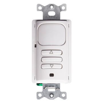 LEV OSD10-I0W 0-10V Passive Infrared (PIR) Dimming Wall Switch Sensor, Occupancy (Auto-on) And Vacancy (Manual-on) Operating Modes, 1 Relay Mode For Single-level Switching, 1,000 Square-foot, 180 Degree Coverage, 120/277V, 50/60HZ, No Minimum Load Requirement, Zero Arc Point Switching, Title 24 And IECC And ASHRAE 90.1 Compliant. UL And CUL Listed, White cs=1