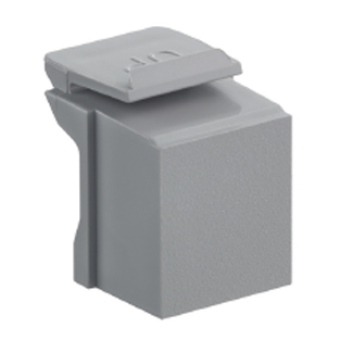 41084-BG LEV BLANK SNAP-IN - QUICKPORT GRAY 1= bag of 10