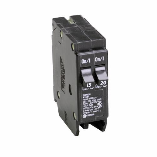 CUT BD1520 Type BD Duplex Breaker 1-15A/1P 1-20A/1P 120/240V 10K