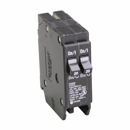 CUT BD2020 Type BD Duplex Breaker 2-20A/1 Pole 120/240V 10K