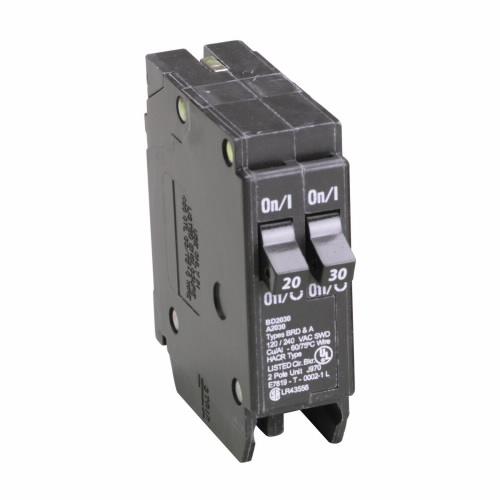 CUT BD2030 Type BD Duplex Breaker 1-20A/1P 1-30A/1P 120/240V 10K