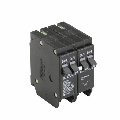 CUT BQ230240 BQ Quad Breaker 1-30A/2P 1-40A/2P Indep. Trip 120/240V 10K