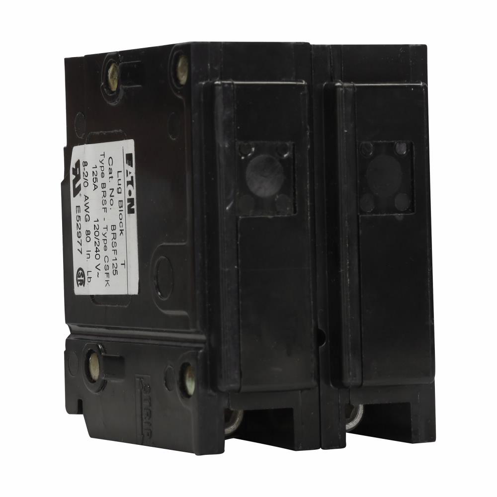 CUT BRSF125 Sub Feed Lug Block 125A 2 Pole Type BR #6-2/0 Wire Size