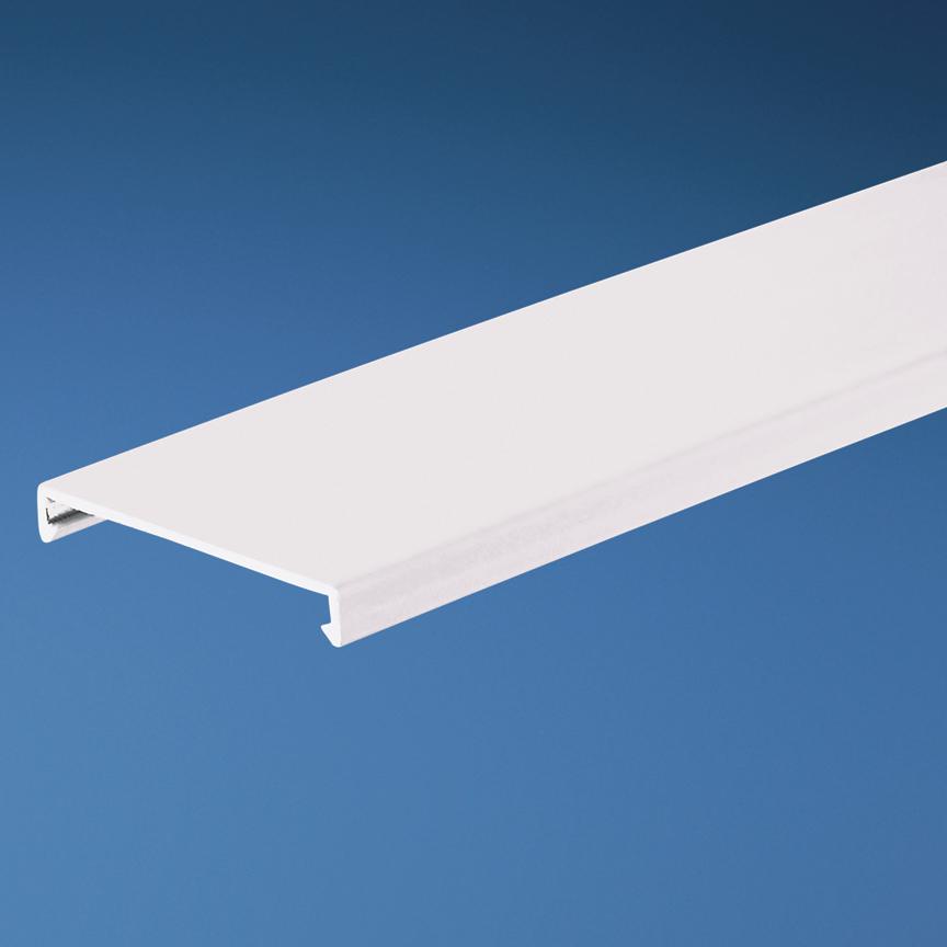 Panduit,C1WH6,Panduit® Panduct® C1WH6 Type C Duct Cover, 6 ft L x 1.25 in W x 0.35 in H, PVC, White