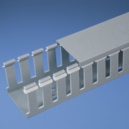 Panduit,G1X2LG6,Panduit® G1X2LG6 Type G Slotted Wall Wiring Duct, 0.31 in Wide Finger Slot, 1 in W x 2 in D, PVC