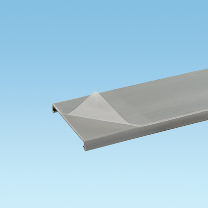 Panduit,C3LG6-F,Panduit® Panduct® C3LG6-F Type C Duct Cover With Protective Film, 6 ft L x 3.39 in W x 0.37 in H, PVC, Light Gray