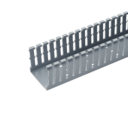 Panduit,F1X3LG6,Panduit® F1X3LG6 Type F Slotted Wall Wiring Duct, 0.2 in Narrow Finger Slot, 1 in W x 3 in D, PVC