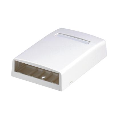 Panduit,CBX4EI-AY,Panduit® CBX4EI-AY Elongated Surface Mount Box, 4 Ports, ABS, Electric Ivory