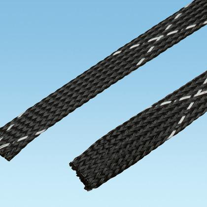Panduit,SE125PFR-TR0,Panduit® SE125PFR-TR0 Expandable Braided Sleeve, 1-1/4 in Dia x 200 ft L, Flame Retardant Polyethylene Terephthalate
