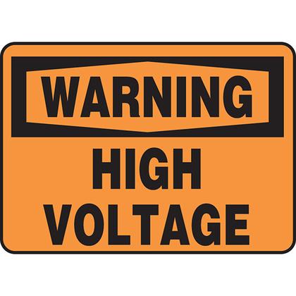 PVS0710W7139 PAN SAFETY SIGN 7X10 W7139 ADH VYL BL/OR