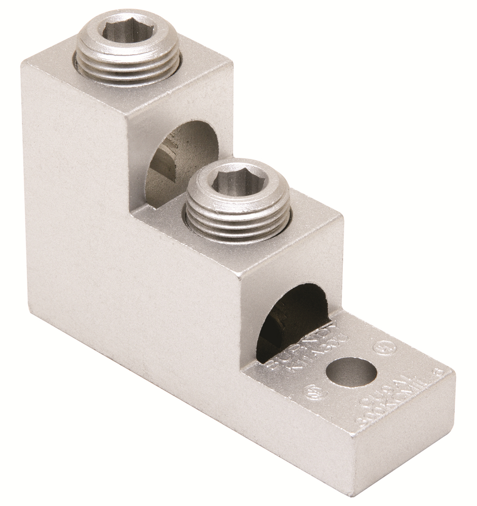BUR K11A30U TWO: 6 STR-300 DUAL RATED STACKED 2 CONDUCTOR LUG 5/16 STUD = ILSCO PB2-300