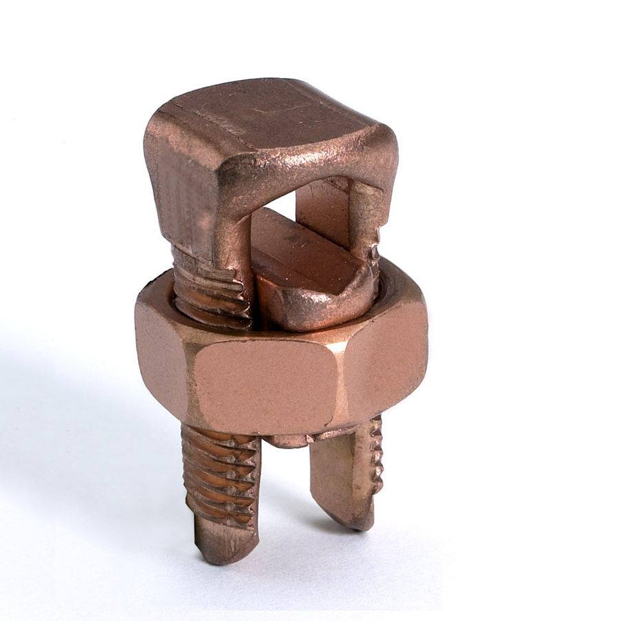 BURNDY,KS17,BURNDY® KS17 Compact Split Bolt Connector, 1 14 to 6 AWG Conductor, 0.58 in L, Copper
