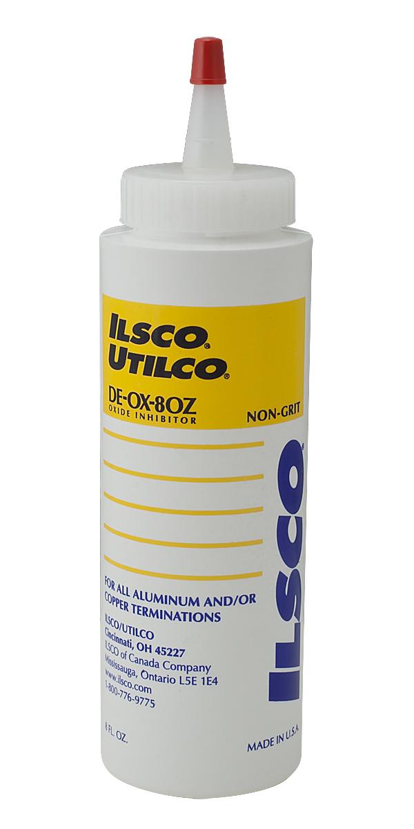Ilsco,DE-OX-8OZ,Ilsco® DE-OX-8OZ Oxide Inhibitor, 8 Oz Capacity, Bottle Container, Temperature Range: 149 DEG C, Weight: 84 LB