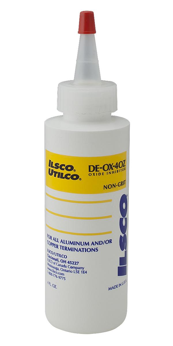 Ilsco,DE-OX-4OZ,ILSCO® DE-OX® DE-OX-4OZ Connector Oxide Inhibitor, 4 oz Bottle, Paste/Thick Grease, Green, 1.08